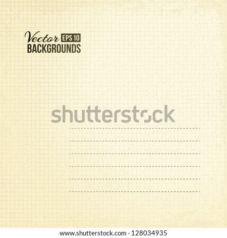 Sepia paper background texture. Vector illustration, eps 10, contains transparencies. - stock vector