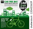 September 22nd World car free day ecology conceptual vector.EPS10 - stock photo