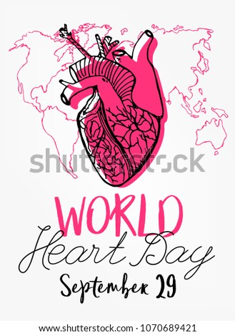 September 29 world heart day vertical stock vector hd royalty free september 29 world heart day vertical poster concept beautiful vector illustration with a gumiabroncs Choice Image