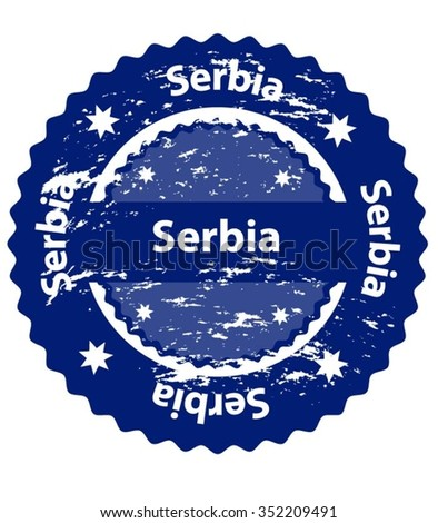 Serbia Country Grunge Stamp - stock vector