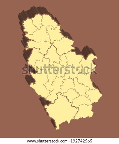 Serbia Vector Map  - stock vector