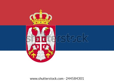 Serbian flag vector - stock vector