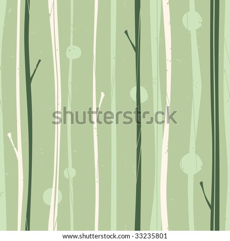 Serene Forest Pattern - stock vector