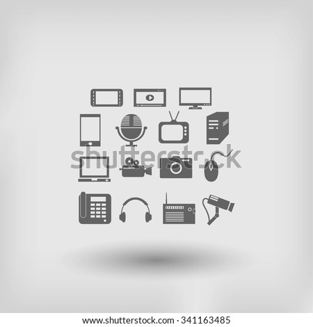 series icon set and mobile devices. - stock vector