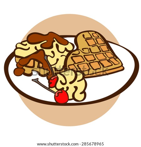 ... waffles-vector-illustration-which-shows-waffles-in-conjunction-with