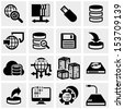 series vector icons set on gray - stock vector
