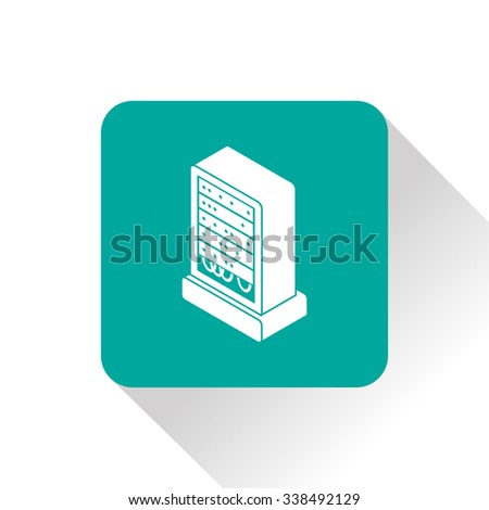 server isometric 3d icon - stock vector