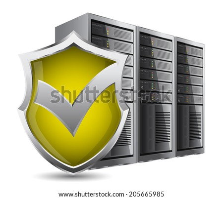 Server security - stock vector
