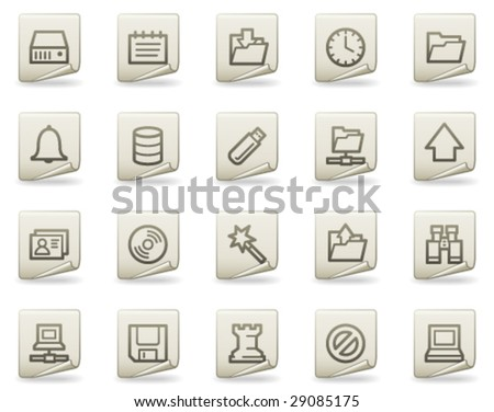 Server web icons, document series - stock vector
