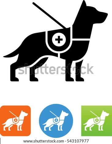 Service Dog Icon Stock Vector 543107977 Shutterstock
