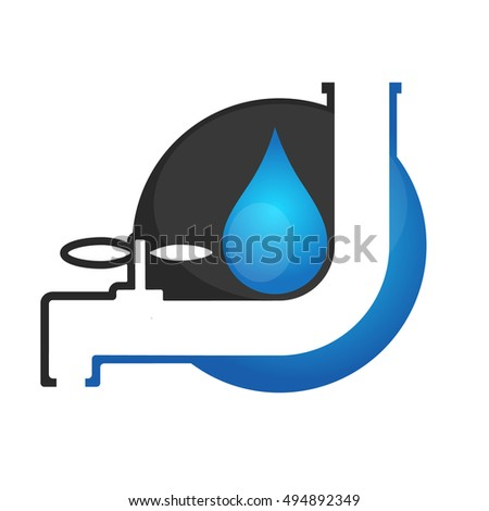 Service for plumbing and running water sign