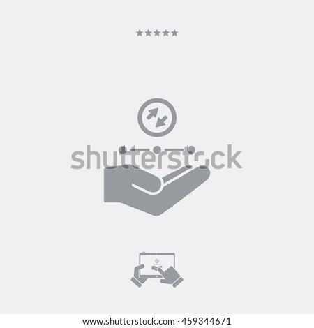 Service offer - Network service - Minimal icon - stock vector