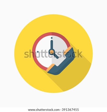 Service phone icon, Vector flat long shadow design. Shipping and logistics concept. - stock vector