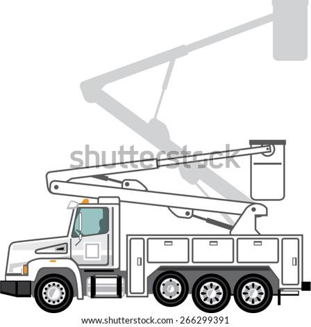 Service Truck - stock vector