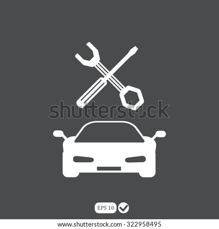 service vehicle vector icon