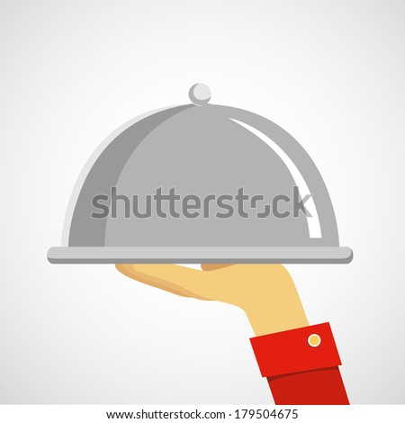 serving tray - stock vector