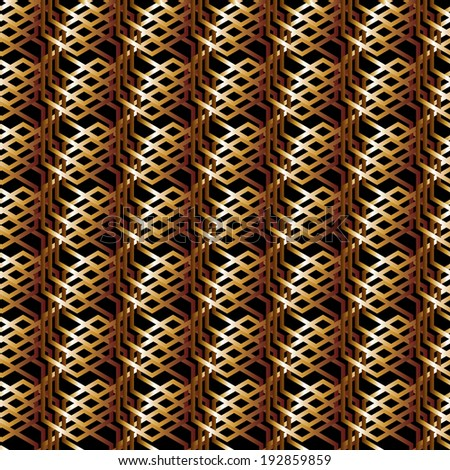 Sesmless golden pattern. Dark gold metal background. Luxury background. Gold on black. Shiny gold background