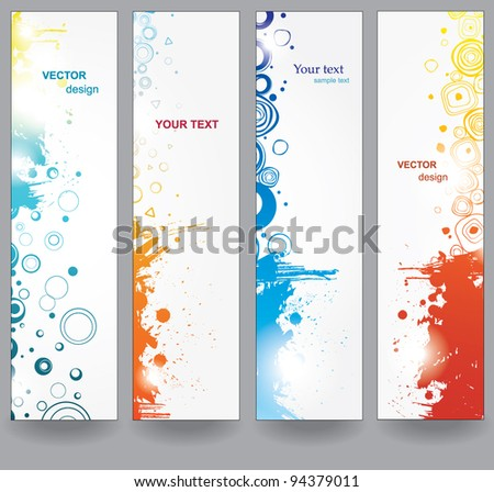 Set abstract banners - stock vector