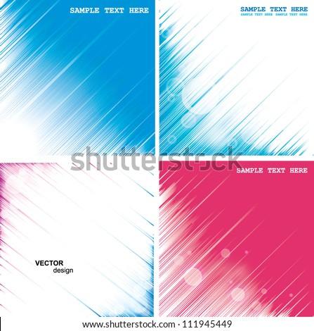 Set abstract Illustration - stock vector
