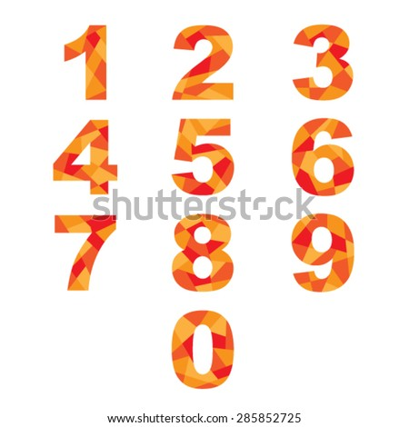 Set  abstract numbers. - stock vector