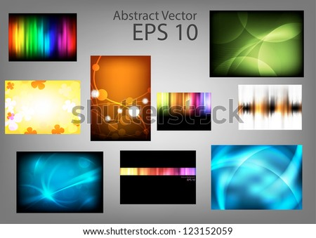 Set abstract vector backgrounds