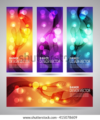 set banner abstract background with lines