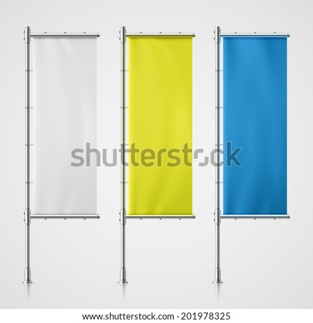 Set banner flag, eps 10 - stock vector