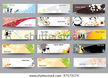 Set Banners glossy - stock vector
