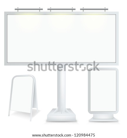 Set billboards. Vector - stock vector