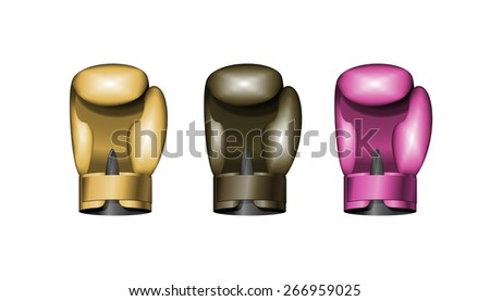 set boxing gloves. Vector illustration. Eps 10 - stock vector