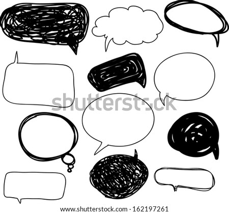 Set Bubble - stock vector