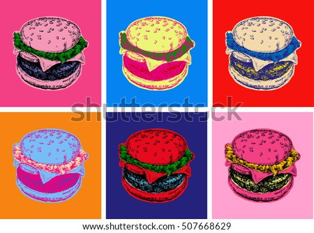 Set Burger Illustration