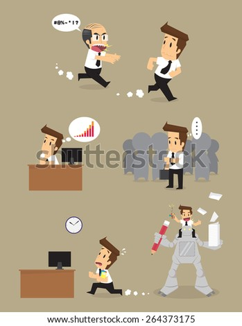 Set,Businessman Character. vector - stock vector