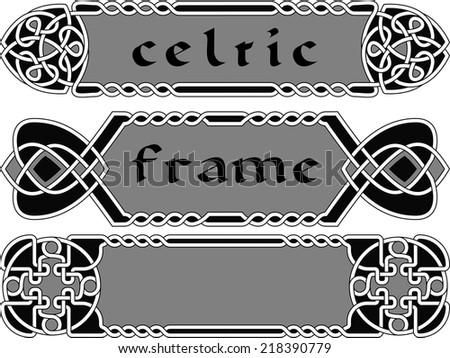 Set celtic frame an element of design vector - stock vector