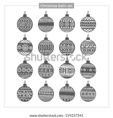 Set Christmas balls - stock vector