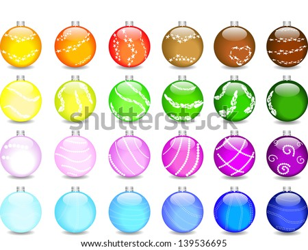 Set - Christmas decorations - stock vector