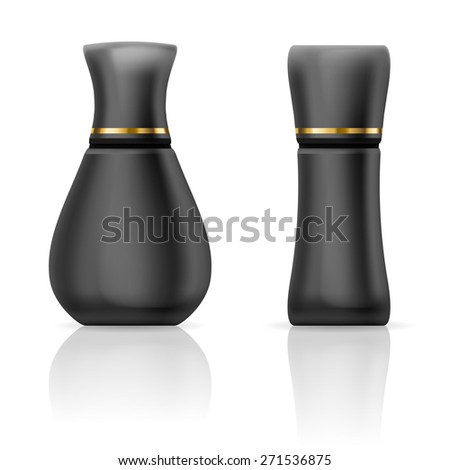 Set  containers for a cream or gel on a white background - stock vector