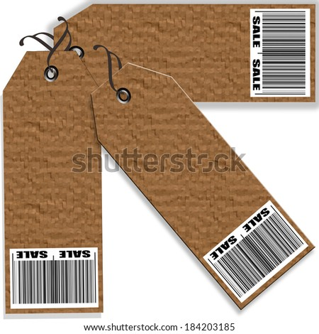 set coupon label with on vector illustration