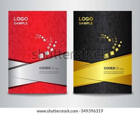 set Cover template,Cover design template, cover design, brochure design, Abstract background, report cover - stock vector