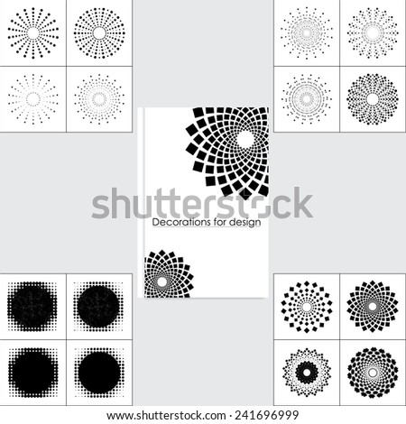 Set design elements to design a notebook or other objects. Logo - stock vector
