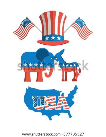 set elections in america uncle sam hat american flag set political debate in
