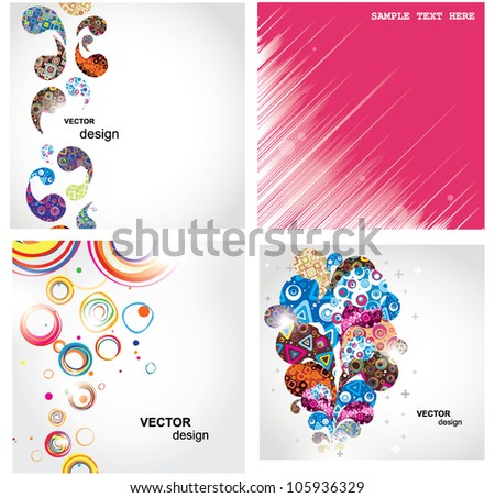 Set elegance and universal backgrounds. Vector. - stock vector