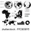 Set Elements of Infographics - stock vector