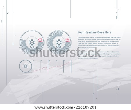 Set elements of infographics design template - stock vector