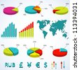 Set elements of infographics. Vector  illustration.Eps10. - stock vector