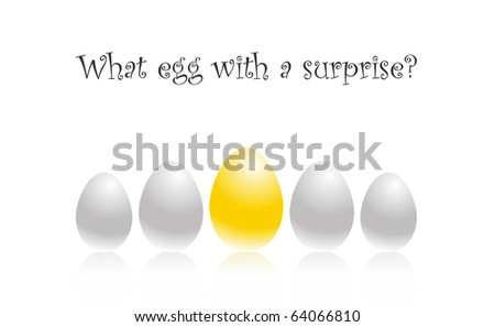set five eggs vector illustration