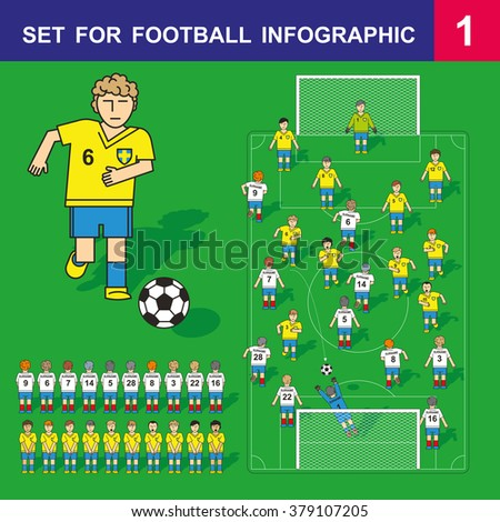 soccer starting lineup template - football soccer starting lineup editable arrangement stock