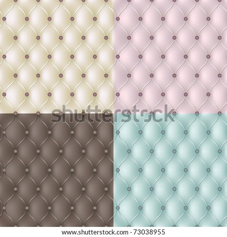 Set genuine leather texture in 4 colours. Vector - stock vector