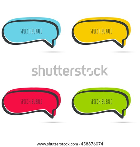 set hand drawn speech bubble vector stock vector 2018 458876074 rh shutterstock com text message bubble vector bubble text vector download