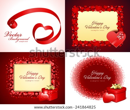 set happy valentines day greetings cards vector background design valentines day wishes hearts - Valentine Day Greetings